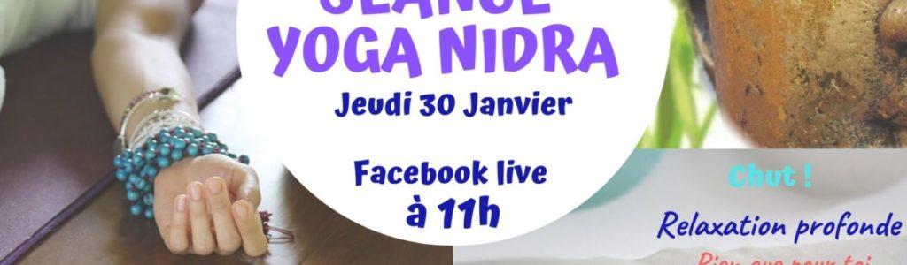 Yoga Nidra en Live sur Facebook