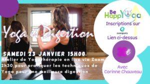 atelier Yogatherapie digestion yoga en ligne