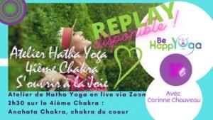 replay Atelier Yoga en ligne S'ouvrir à la Joie mai 2021