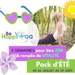 Yoga en vacances avec Be HappYoga en ligne